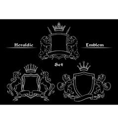 Heraldic logo signs set vector image vector image