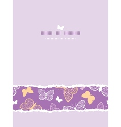 Night butterflies torn frame horizontal seamless vector image vector image