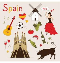 Spain set vector image