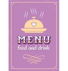 menu western style vector image vector image