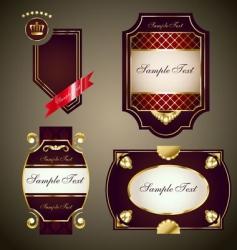 royal labels set vector image