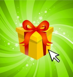 surprise gift vector image vector image