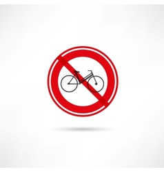 travel by bicycle is prohibited icon vector image