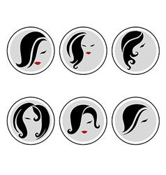 woman hair pics 3 vector image vector image