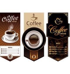 Coffee templates vector
