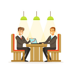 coworking people exchanging ideas and experience vector image vector image