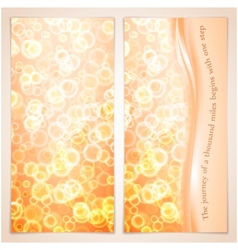 elegance greeting card with bubbles vector image vector image