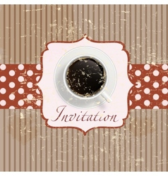 Retro coffee invitation Card vector image