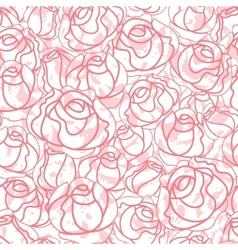 seamless roses pattern backdrop vector image