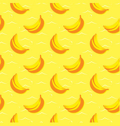 yellow seamless pattern with bananas vector image vector image