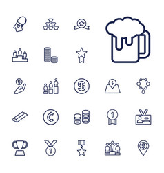 22 gold icons vector