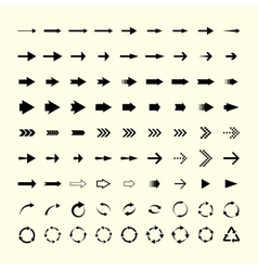 81 arrows vector image