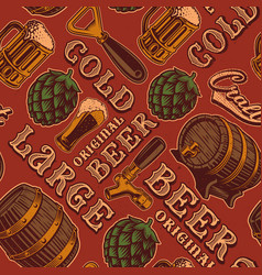 a colorful seamless pattern for beer theme in vector image