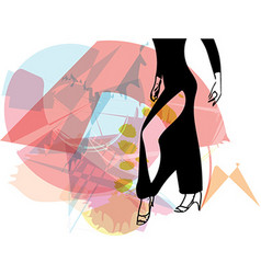 Abstract of Latino Dancing woman legs vector