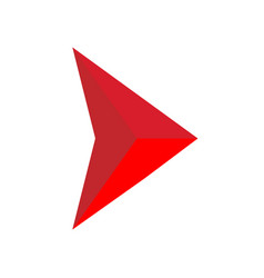 abstract triangular arrow icon on white vector image