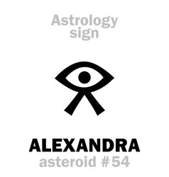 astrology asteroid alexandra vector image