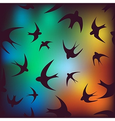 background with swallow vector image