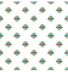 Badge guardian pattern seamless vector
