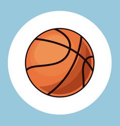 Basketball ball equipment icon vector