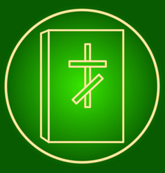 Bible with a christian cross easter vector