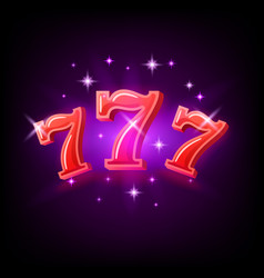 big win slots red 777 banner casino on purple vector image