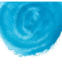 blue watercolor circle vector image