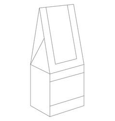 Brick carton vector