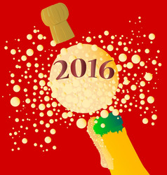 bubbly new year 2016 vector image