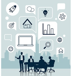 Business meeting with icon for Business concept vector