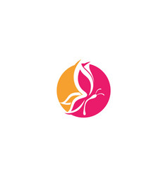butterfly conceptual simple colorful logo vector image