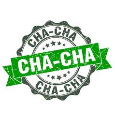 Cha-cha stamp sign seal vector