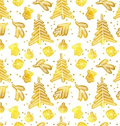 Christmas seamless pattern vector image