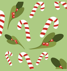 christmas sweetmeats green background vector image