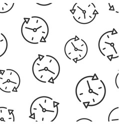 clock countdown icon seamless pattern background vector image
