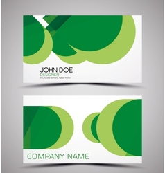 CMYK business card design template vector image