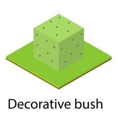 Decorative bush icon isometric style vector