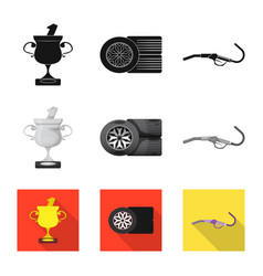 design of car and rally sign collection of vector image
