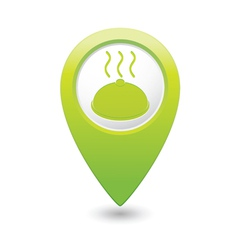 Dish green map pointer vector
