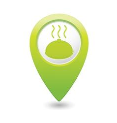 Dish GREEN map pointer vector