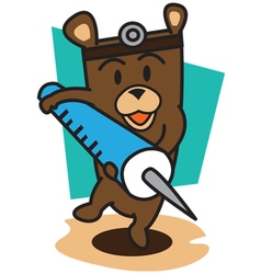 Doctors Bear vector image