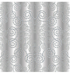 Dotted silver 3d seamless pattern vector