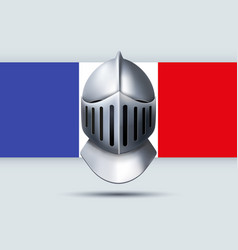 Election symbol of knight helmet with french flag vector