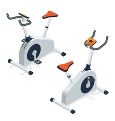 Exercise bike isolated on white background vector