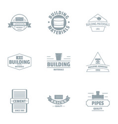 fast build logo set simple style vector image