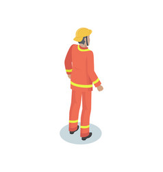 fireman in uniform working concept icon vector image