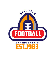 Football championship best team est 1983 logo vector