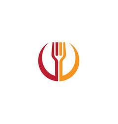fork restaurant logo vector image