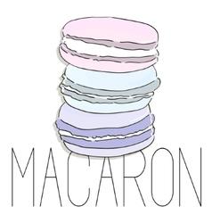 French macarons fashion art image vector