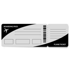 Grey ticket isolated vector