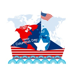 Happy Columbus Day vector